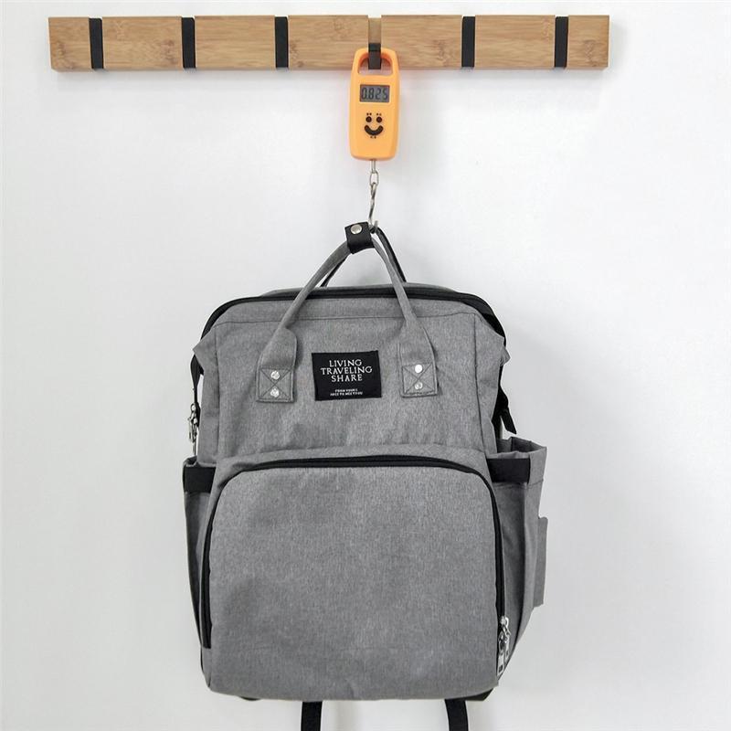 세련된 접이식 침대 기저귀 가방 배낭 대용량 미라 방수 케이스