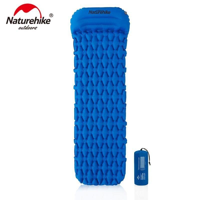 NatureHike Nylon TPU Camping Mat Sleeping Pad Leggero Leggero Immobile Air Materasso Air Portatile Gommone Gonfiabile NH19Z012-P Pastiglie all'aperto