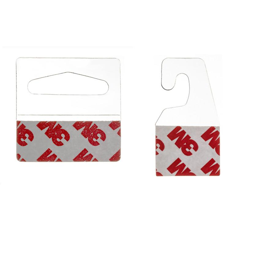 РОЗНИЧНЫЕ ПОСТАВКИ Пластиковые PVC Pet Danging Висит вкладки Крючки на товарных пакетах Box Boak Bag Tagers Peghooks Дисплей J-Hook Sey клейкий стиль 200 шт.
