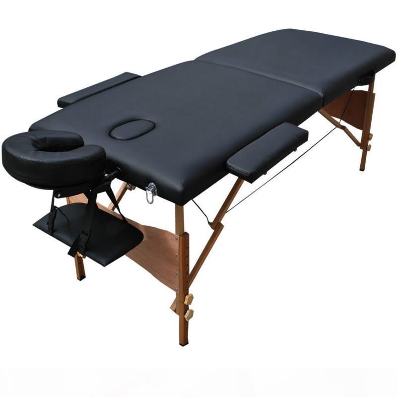 سرير تدليك قابل للطي المحمولة مع كارينغ حقيبة المهنية للتعديل سبا العلاج الوشم تجميل صالون تدليك الجدول السرير