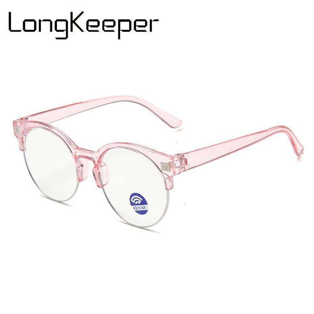 Longkeeper Kids Anti Blue Light Gafas New Children Semi-Rimless Eyeglasses Boys Girls Clear Lens Spectacles Oculos Infantilil