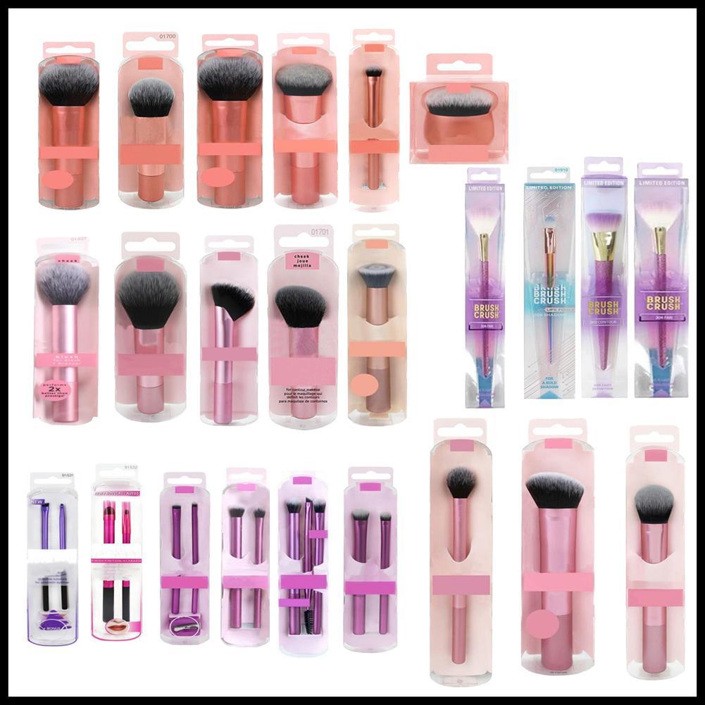 Epack Single Makeup Lustre Brushes Set Sombre de ojos Blusher Cepillos Herramientas de maquillaje Pincel profesional + Bolso de cuero con caja de venta al por menor