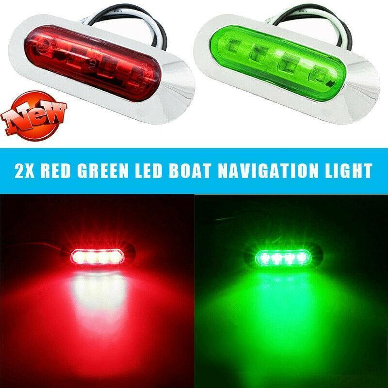 1000-3000K navigasyon led tekne ışıkları 2 adet güverte kurulumu kolay kırmızı yeşil acil durum