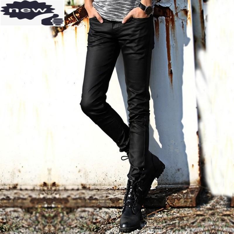 패션 남자 인쇄 긴 연필 캐주얼 오토바이 바이커 슬림 맞는 바지 남성 플러스 사이즈 40 가을 마른 바지 streetwear 남자