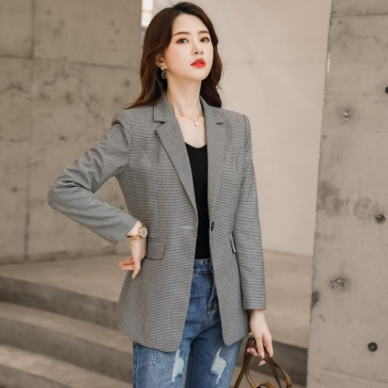 Spring Fall Casual Women Blazer And Jackets Office Ladies Work Wear Clothes OL Styles Women's Suits & Blazers