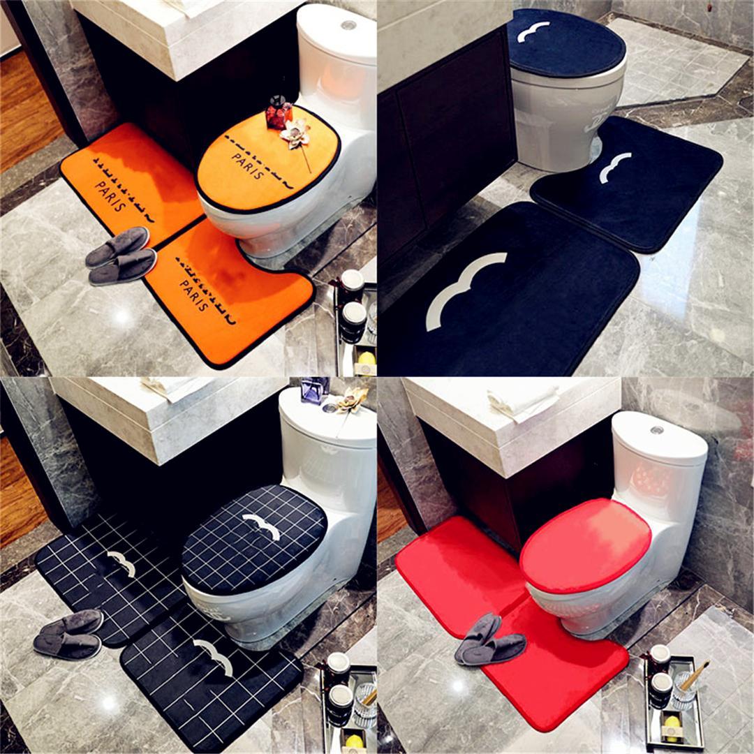 Siège de toilette de haute qualité Couvre de la porte d'intérieur Tapis de portes U Ensembles Accessoires de salle de bain écologique
