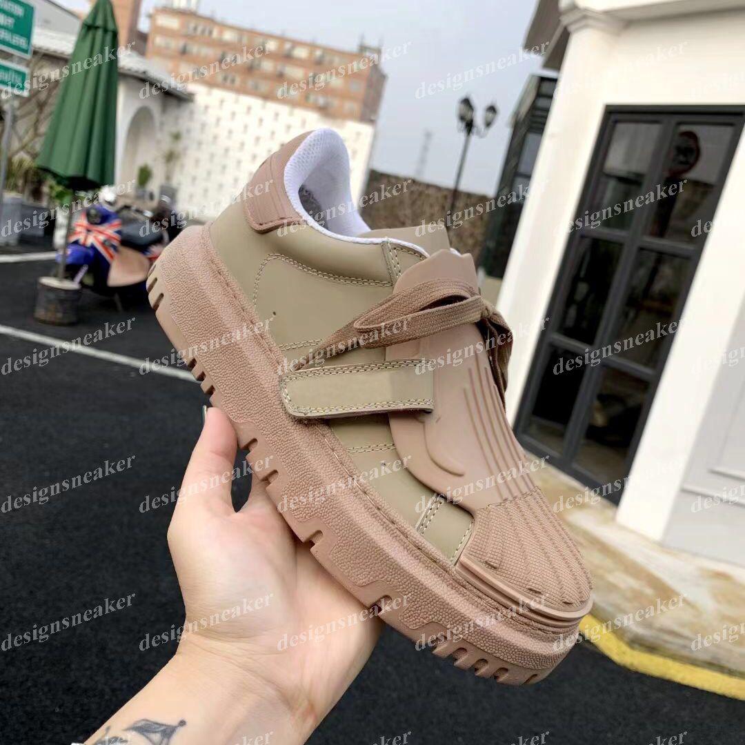 Erkek Bağlayın Üçlü Sneakers Ayakkabı Kadın Vintage Eğitmenler Şerit Retro Rahat Ayakkabılar Siyah Beyaz Çıplak Grosgrain Chaussures