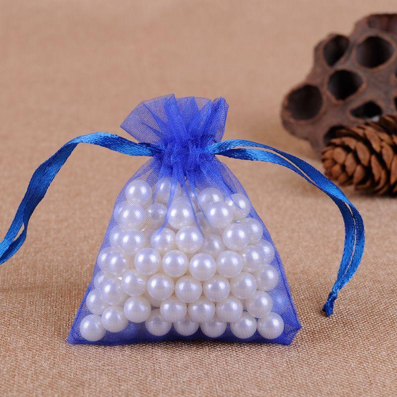 Оптовая продажа 7 * 9 см ювелирные изделия сумки смешанные органзы ювелирные изделия свадьба одолжение рождественские подарочные сумки фиолетовые синий розовый желтый черный с шнуркой 319 q2