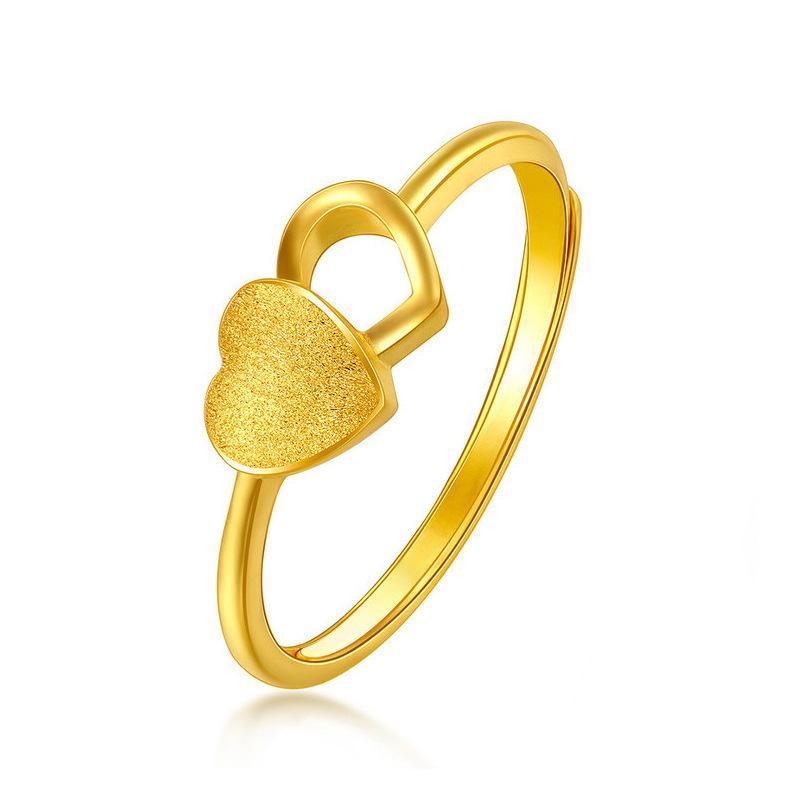 Мода Песок Ювелирные Изделия ЕВРО Покрытие 24 K Золотое матовое открытое кольцо для женщин