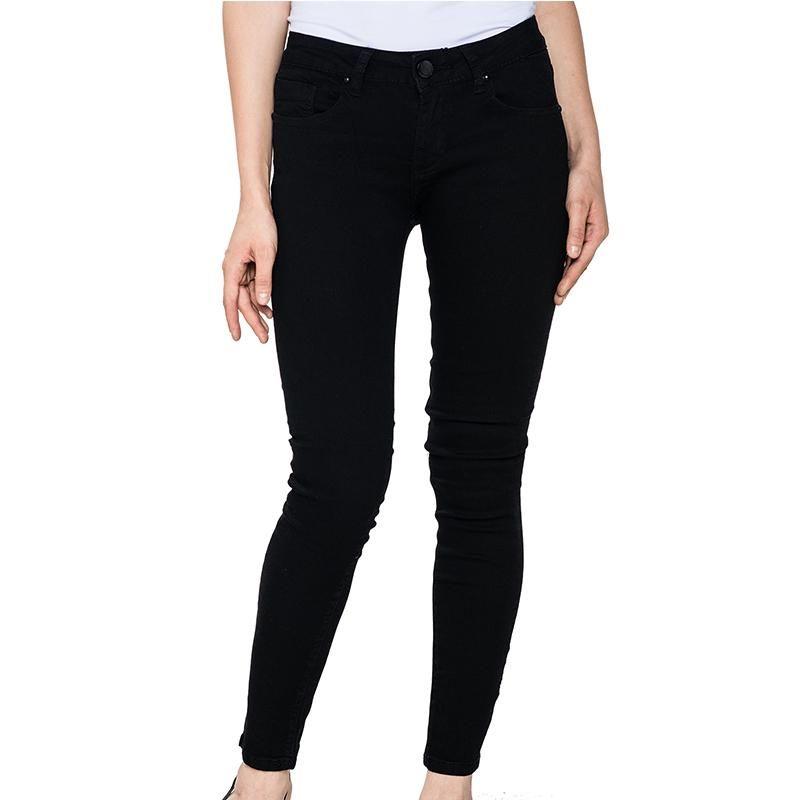 Bleistifthosen WNK-2104B1 Frauen Jeans Mid-Ehefrau Dünnfrauen Boyfriend Jeans Slim Ripping Denim Glo-Story 2021 Mode
