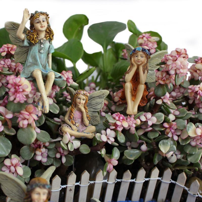 Décorations de jardin mignon princesse résine créative artisanat ornements petites fille modèle modèle micro paysage fleur pot décoration maison statutu