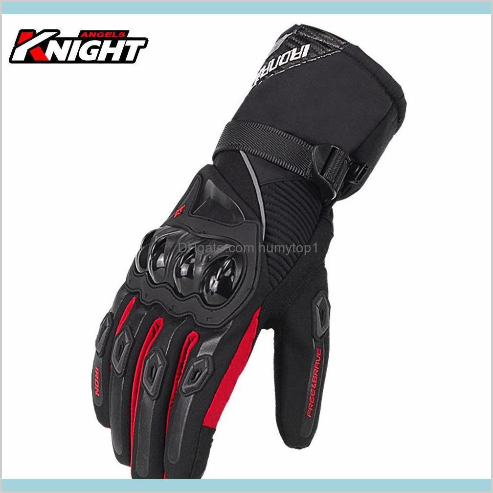 Сбой мотоциклетные перчатки мужские водонепроницаемые ветрозащитные зимние моторные перчатки байкер сенсорный экран Gant Moto Guantes мотоцикл езда перчатки Q0111 PEEOH