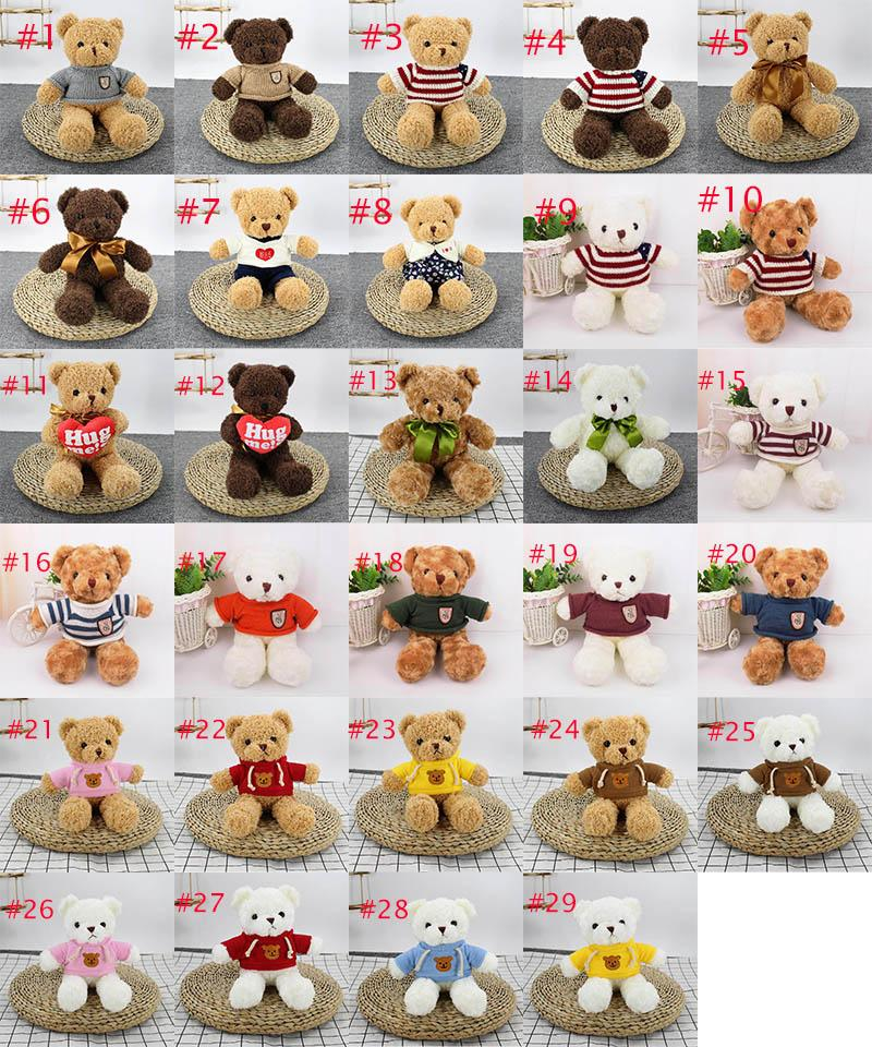 30 cmteddy ayı bebek peluş yumuşak oyuncaklar noel dolması hayvanlar çocuk doğum günü hediyeleri çift itiraf hediye malzemeleri toptan