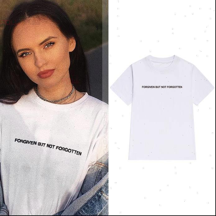 Perdoada, mas mulheres camisetas não esquecido Mulheres Tshirt Algodão Camisa engraçada ocasional para senhora Yong Girl Top Tee Hipster