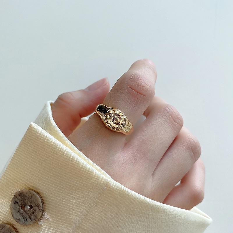 هندسية مقعر خواتم 925 الفضة والمجوهرات بساطتها سحر آنيل بوهيميا خمر بوهو باجي فام أنيلي الدائري للنساء العنقودية