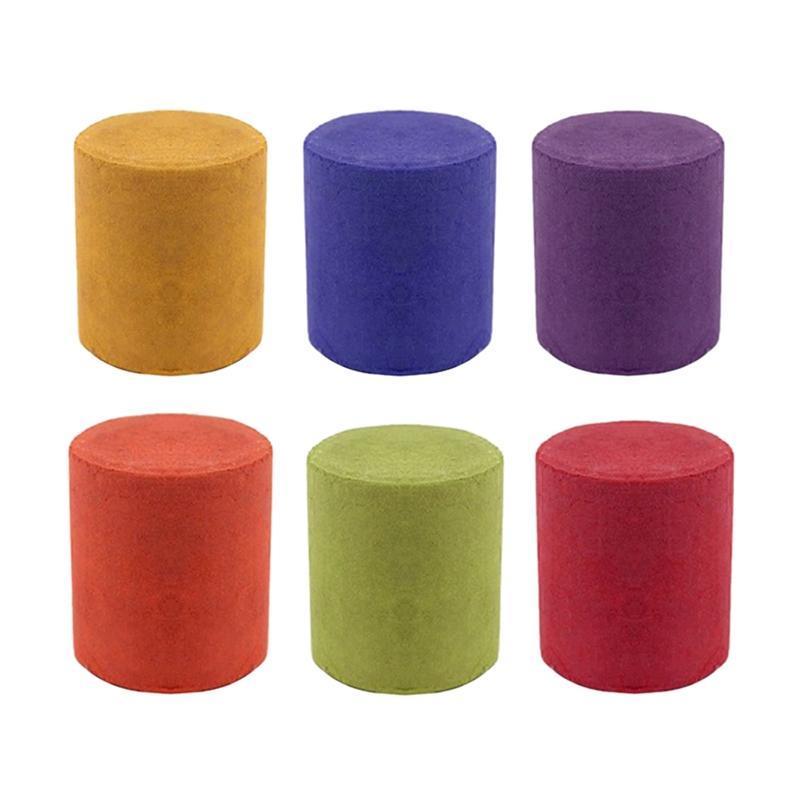Smoke Bolo Efeito Colorido Pogal Pogal Toy 6 Pcs cores tripés