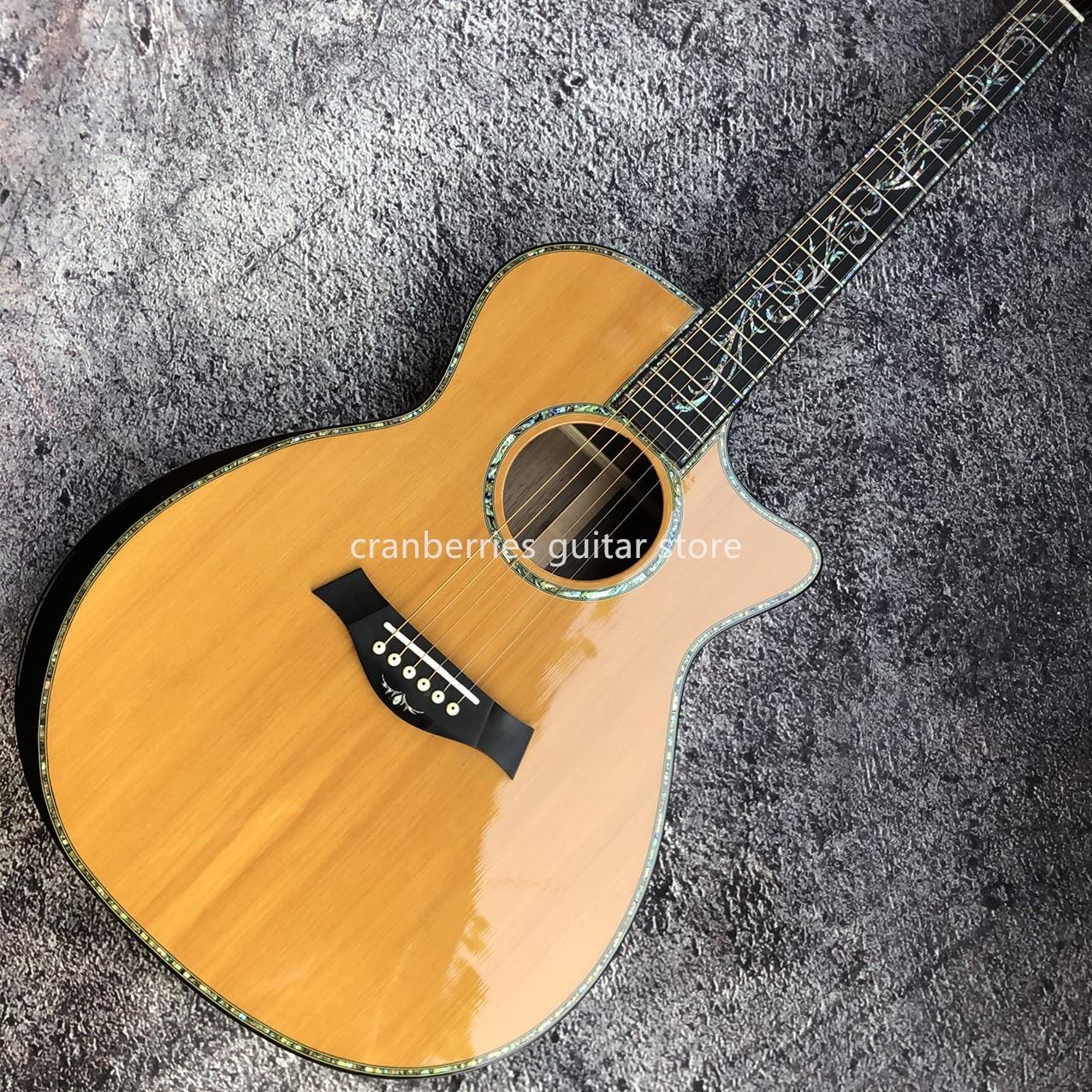 """Chaylor SP14 Echte Abalone Akustikgitarre, Zederplatte Sandelholz Zurück und Seiten, Gute Qualität 41 """"PS14CE Modell, 6 Saiten, echte Abalone Inlay,"""