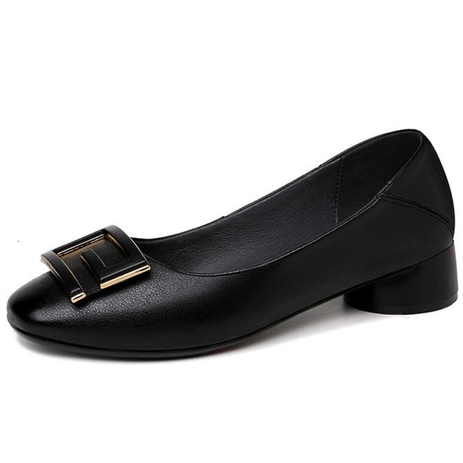 Dress Shoes Square Toe Sexy Solid Women Spring Autumn Fashion Med High Heels Party Office Wedding Female Pumps For Woman N0221 3K5