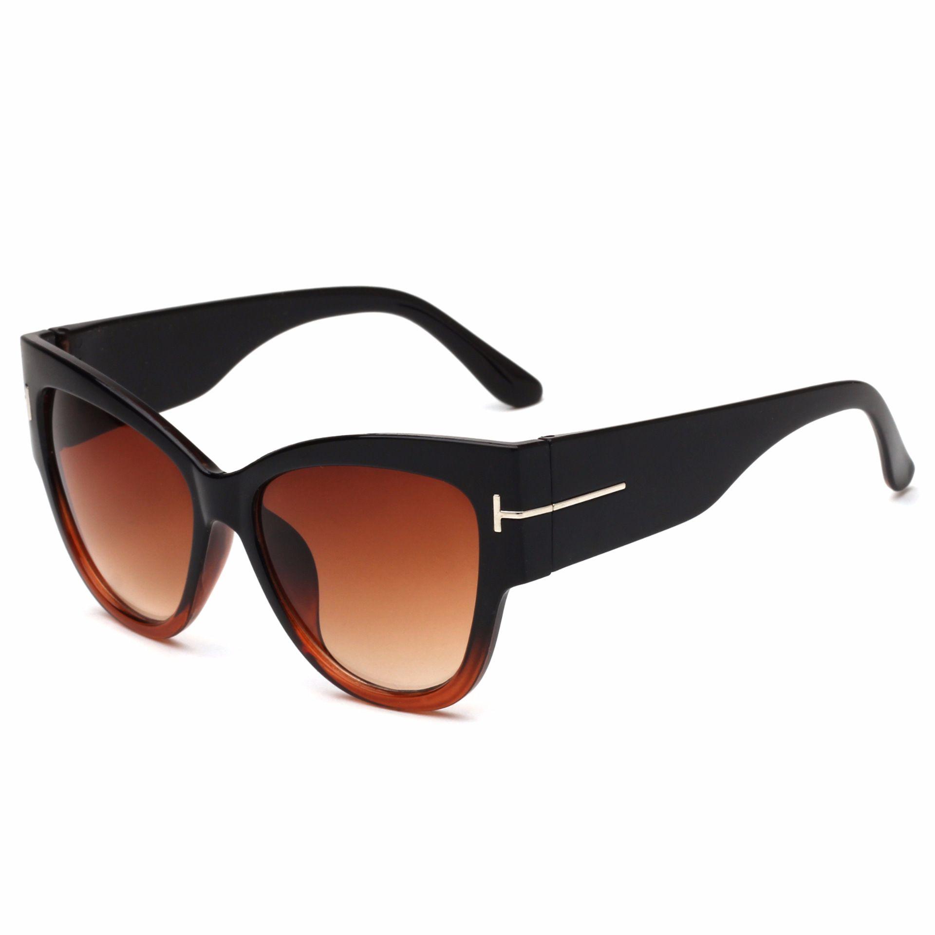 أزياء العلامة التجارية مصمم القط العين النساء نظارات الإناث التدرج النقاط نظارات الشمس كبير oculos feminino دي سول