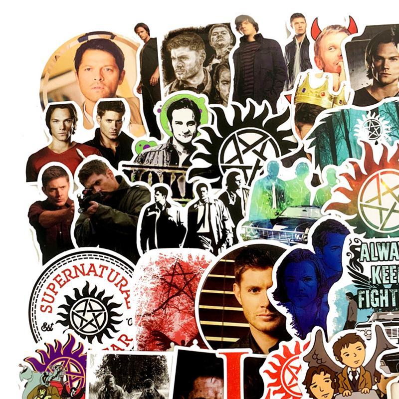 51 adet Supernatural TV Film Yakışıklı Scrapbooking Su Geçirmez Sticker Fanlar Için Bagaj Kaykay Telefon Dizüstü Duvar Gitar F4