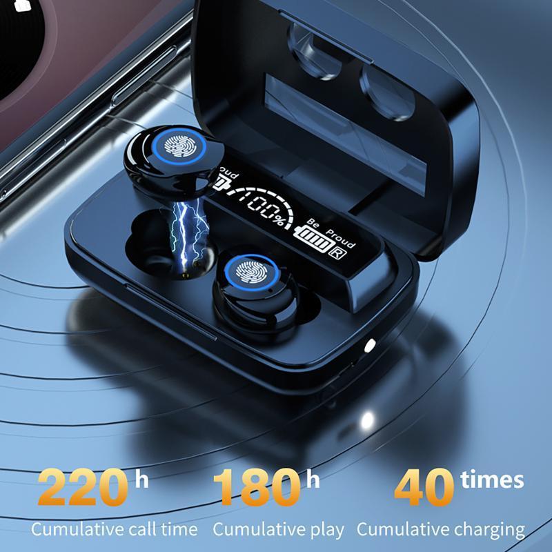 Écouteurs sans fil Bluetooth HiFi Stéréo InAre Mini Écouteurs avec Cas de chargement de 2000MAH Casque Écouteurs TWS Casque
