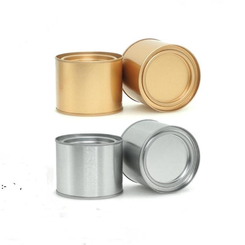Tè in alluminio da 250ml Can Tins Pot Jar Jar Comestic Contenitori Portatile Seal Seal Metal Tè Can Candle Cancella Cancella Can OWB10363