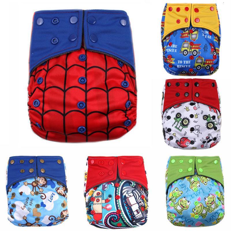 Pañales desechables Pantalones impermeables PP PAPS Lavable para bebés Pañales a prueba de fugas transpirables Pantalones de entrenamiento PantsU0G6