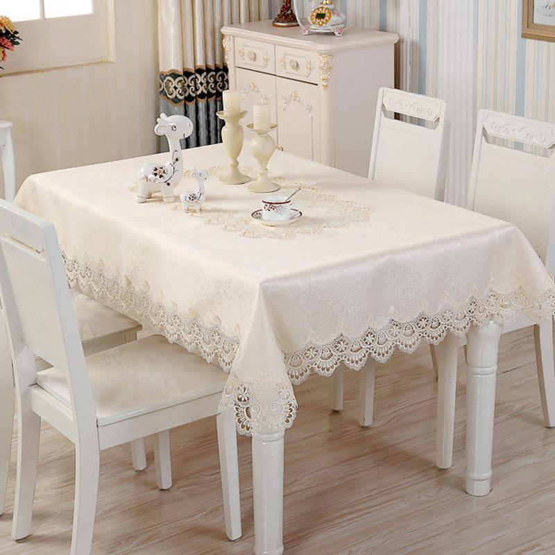 테이블 헝겊 플래그 커피 매트 식탁보 사각형 결혼식 레이스