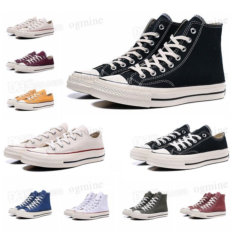 TOP Quality converses Classic Canvas 1970 Casual Shoes Platform full High reconstruction Big SLAM confiture triple Black and White High and Low Men and Women Athletic stars shoes