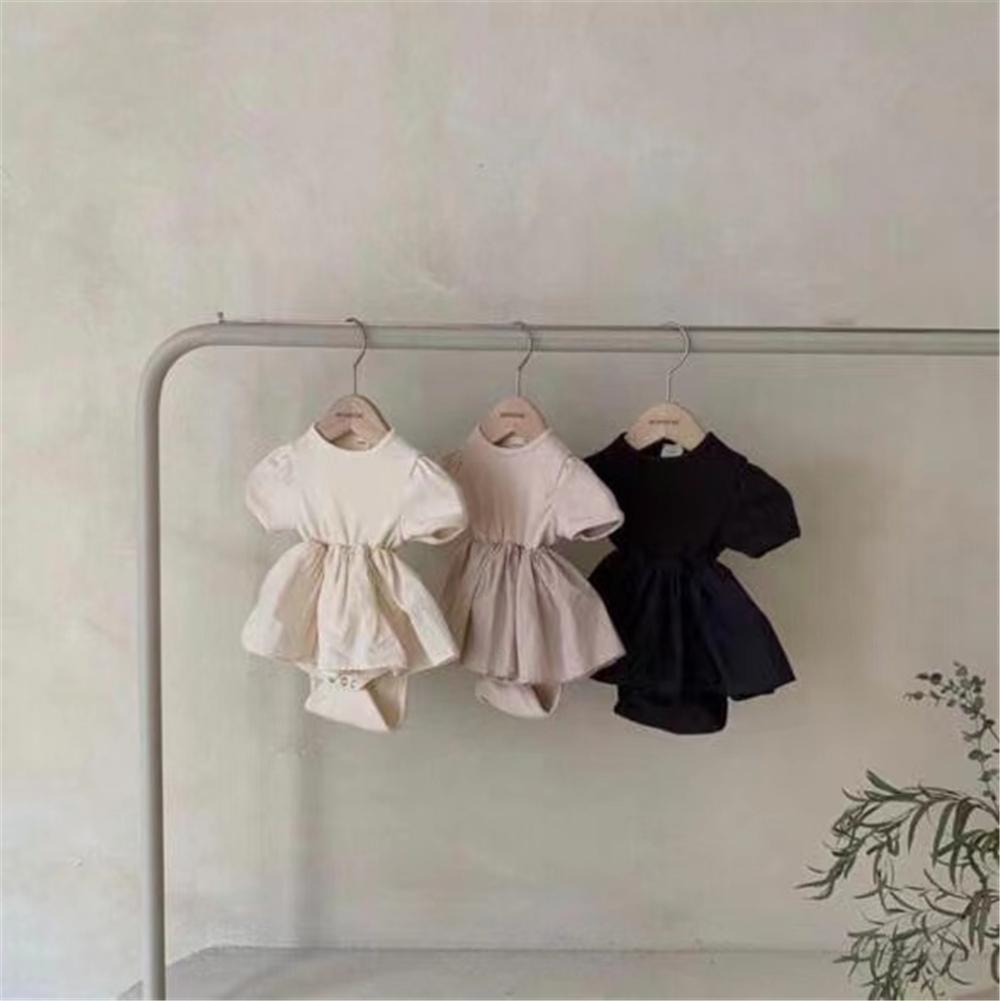 DB Newest Korean Australia Baby Rompers Dresses Knitted Cotton Jumpsuit Infant Oneises Newborn Ruffles