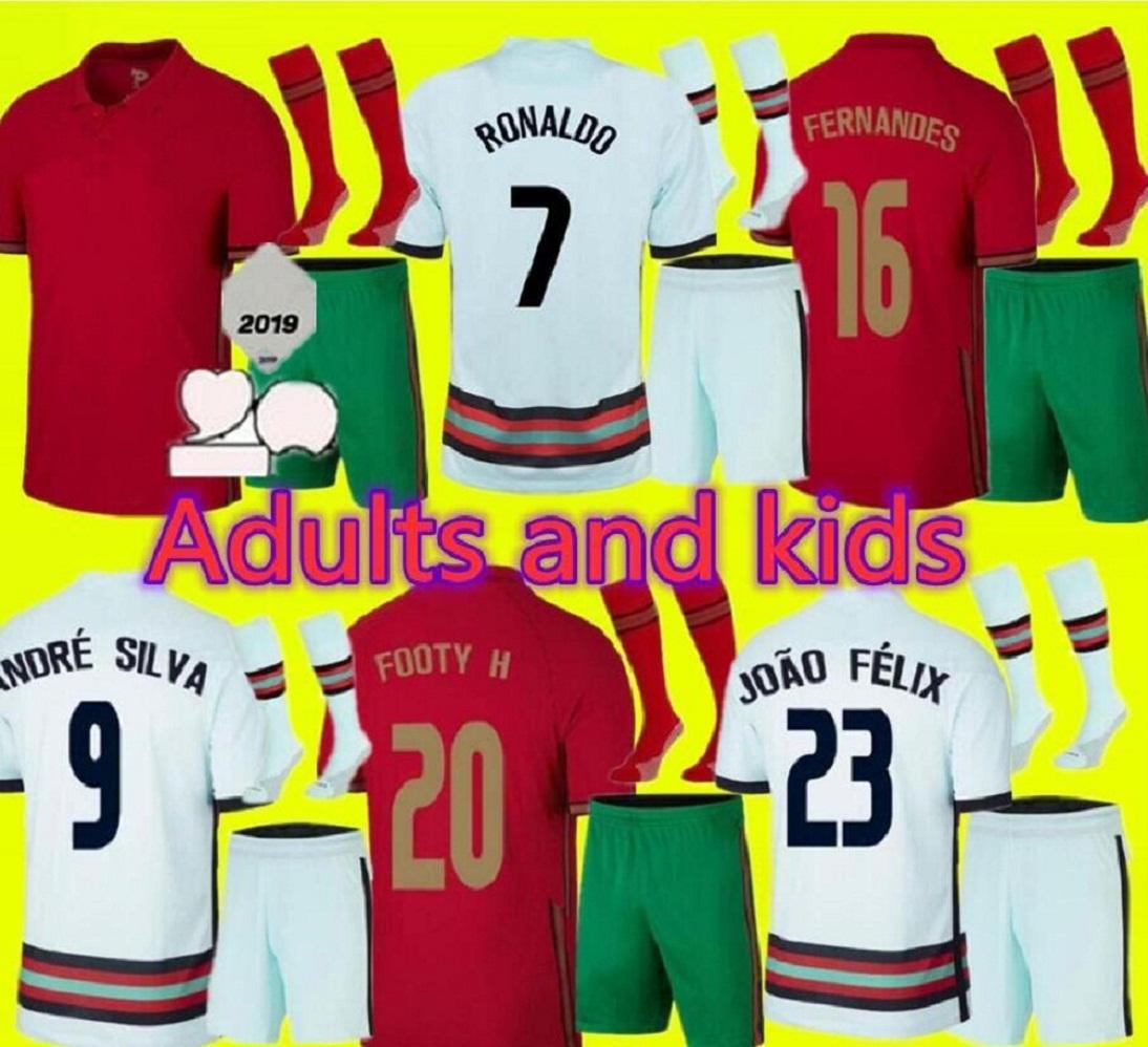 성인과 어린이 2021 2022 Fernandes Joao Felix 축구 유니폼 Nani 22 22 André Silva Danilo Quarresma Camisetas Football Shirt
