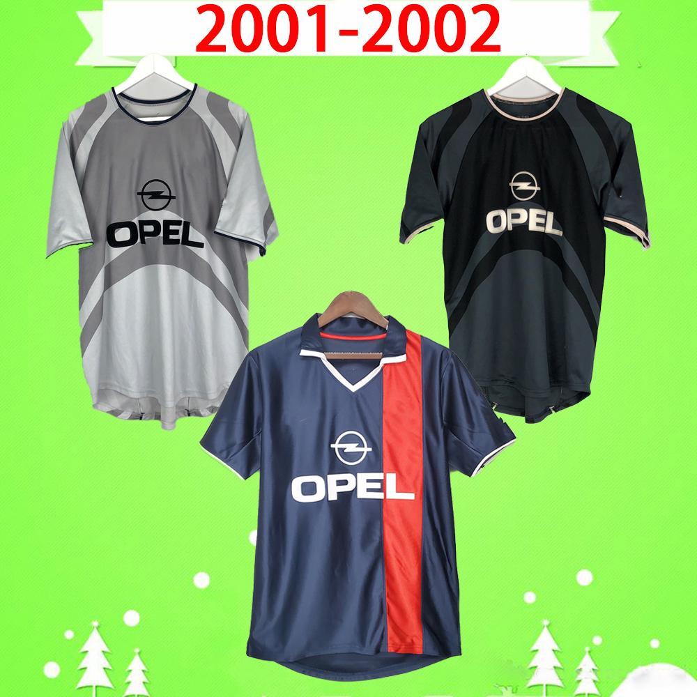 psg jersey # 10 RONALDINHO CHULAPA 2001 2002 Retro Paris Soccer Jerseys 02 03 Classic Commemorato Vintage # 17 Llacer Camicia da calcio 01 02 Maillot Francese