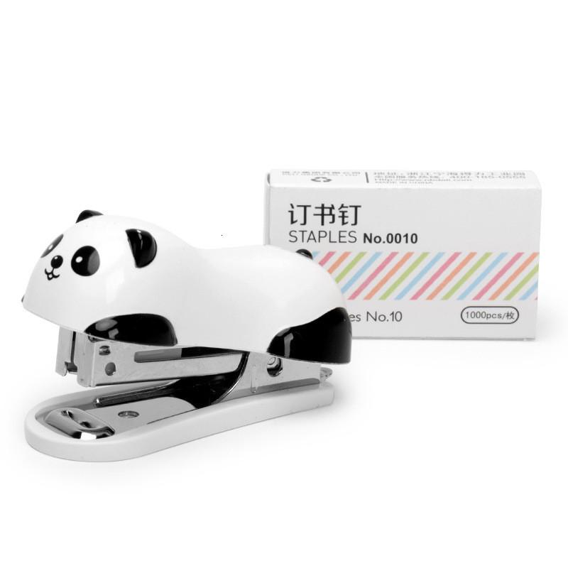 Mini 2020 New Cartoon Stapler Set Stapling Machine with 1000 Pcs Staples Office School Binding Supplies Manual Cute Staplers