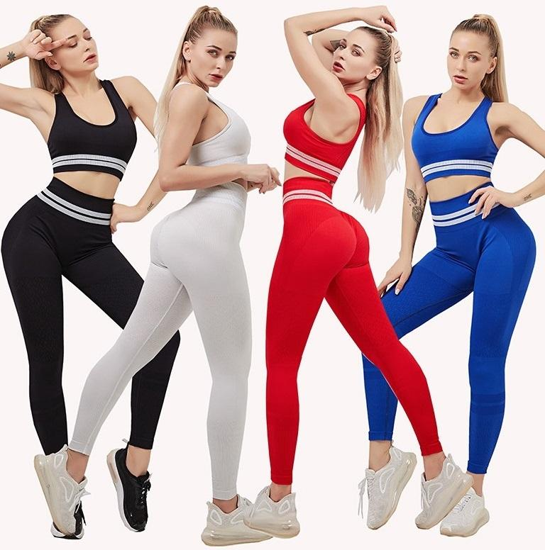 tracksuits Workout sets Clothes Womens Seamless Yoga Sports Suit streetwear Bra Top High Waist leggings Fitness 2 Piece set Sportswear yogaworld Gym pant casual