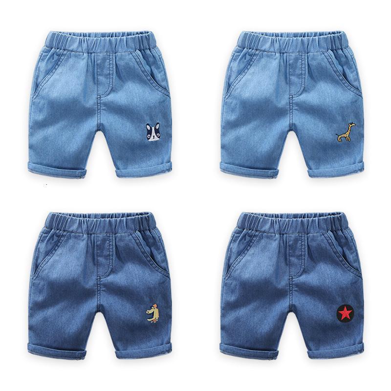 Jungs Jeans Shorts 2021 Sommer Neue Kinder tragen Koreanische Stickerei Tier Ausländische Stil Heiße Hosen Baby Mode Trend