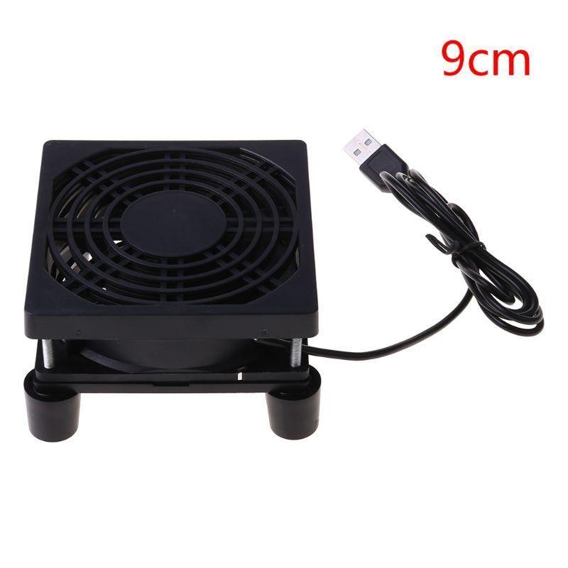 9 см / 12 см Вентилятор охлаждения DC 5V USB-источник питания Тишины для маршрутизатора TV Set-Top Box Radiator Cooler DIY Repair Parts Pads
