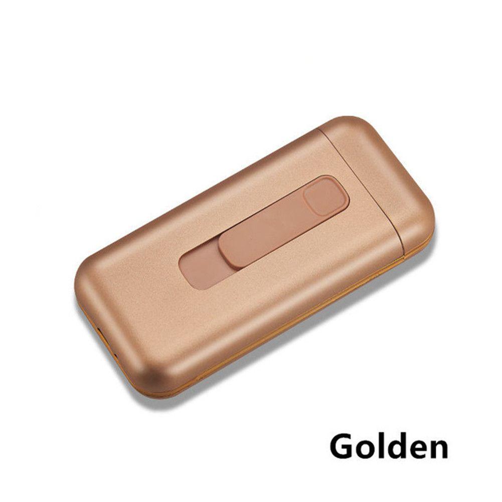 20 шт. Емкости сигаретный корпус с USB Электрические зажигалки ветрозащитные вольфрамовые плазменные дуговые зажигалки для тонких сигарет Портативный держатель коробки подарок женщин