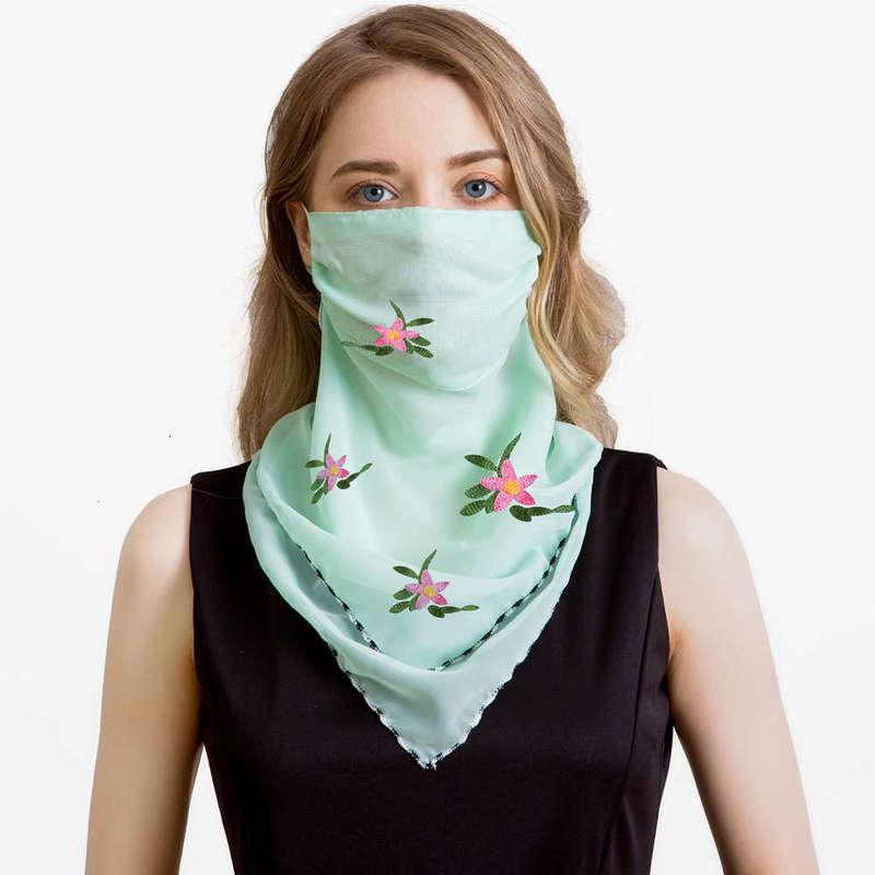 Sunburn Fashion Cream Neck Mask Protezione Dunne Estate Respirazione Scialle in chiffon Triangolo Autostrada