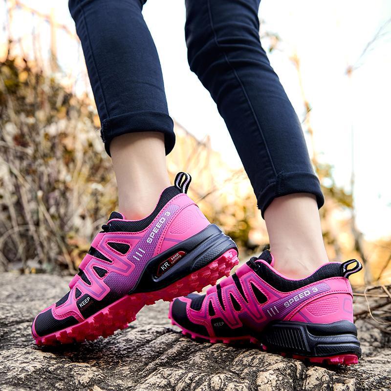 حجم كبير 2021 المرأة المشي الأحذية لينة في الهواء الطلق عارضة أحذية الصيف تنفس شبكة أحذية الأزياء المدرب أحذية رياضية