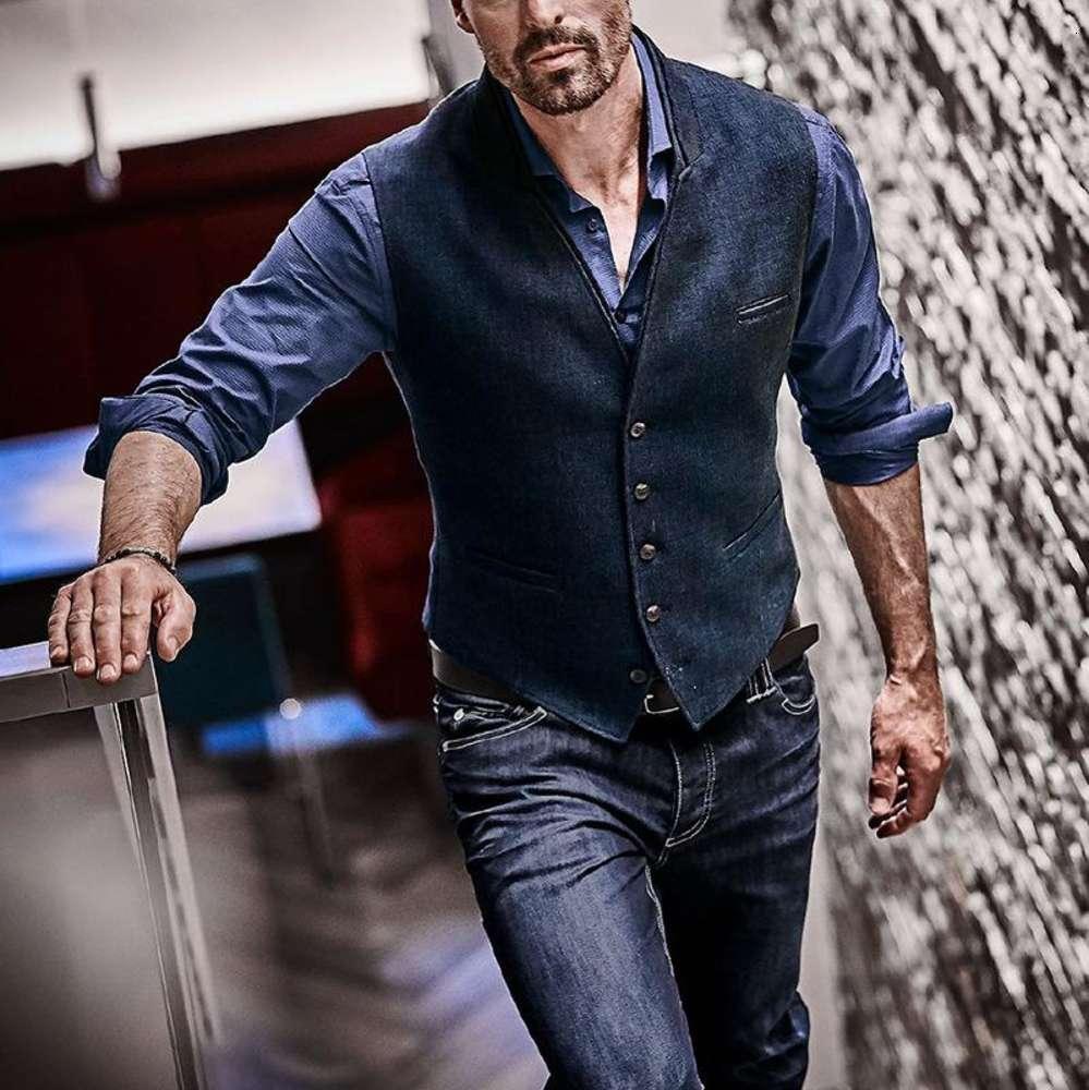 VERT VINTAGE STANDÉE VEST Hommes 2020 Marque Haute Qualité Hommes Design Gilet Gilet Homme Homme Casual Slim Fit Business Gentleman Gilets