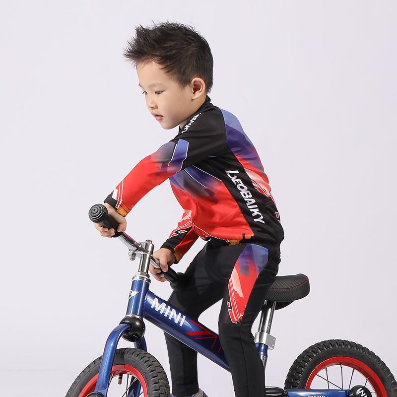 어린이 양복 여름 통기성 아이들 사이클링 의류 저지와 바지 소년 스포츠 자전거 오토바이 갑옷