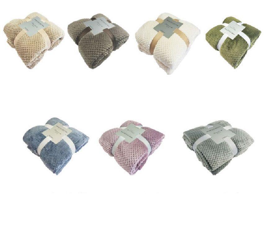 Reine Farbe Wurf Decke Mesh Ananas Gitter Korallen Fleece Decken Knie Decke Kleine Decke Haustierdecken HHXD24332
