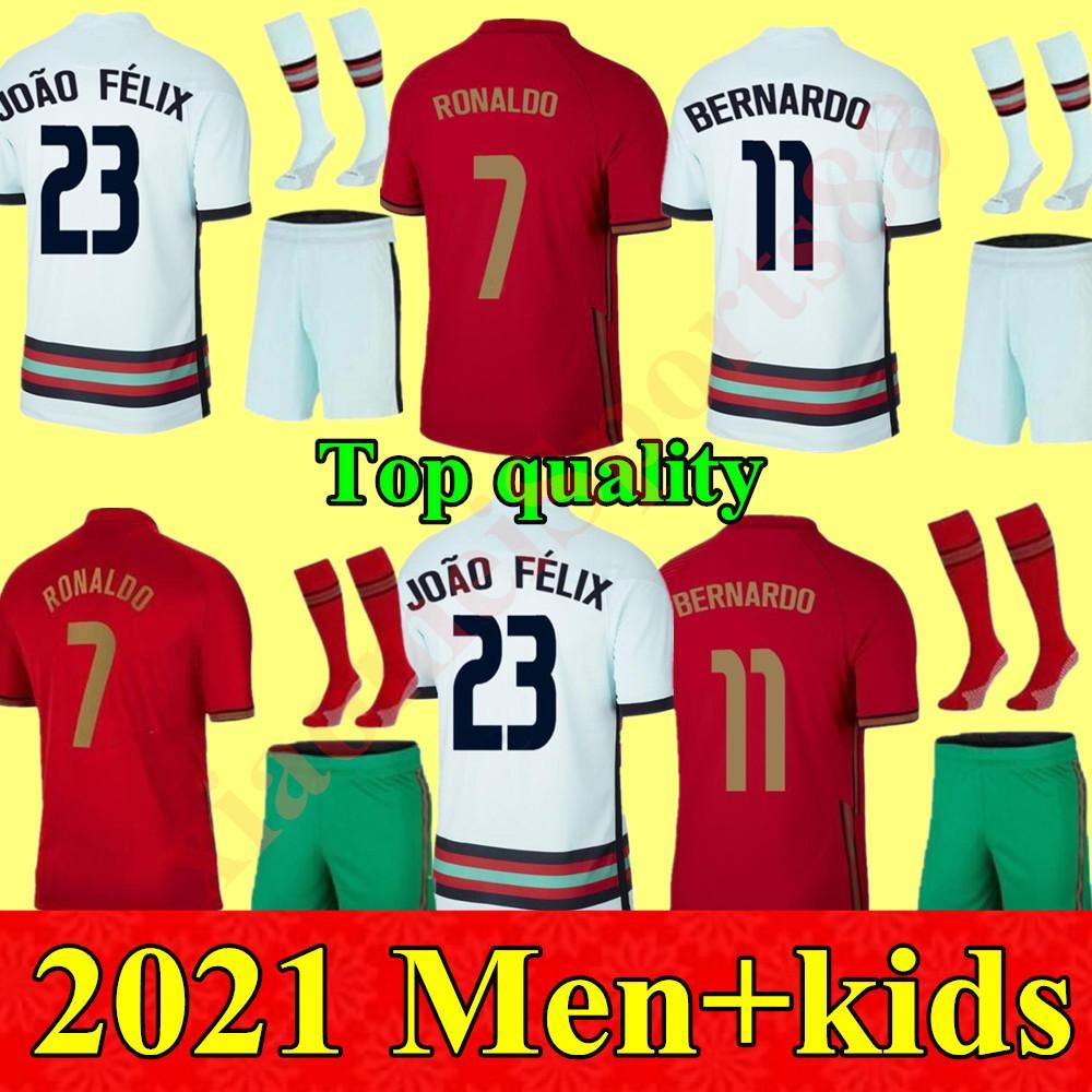 2020 فريق وطني Kids Kit Kits Soccer Jerseys Ronaldo Joao Felix الصفحة الرئيسية Yout Football Shirt 20 21 مجموعات الأطفال البرتغالية Camisa de Futbol