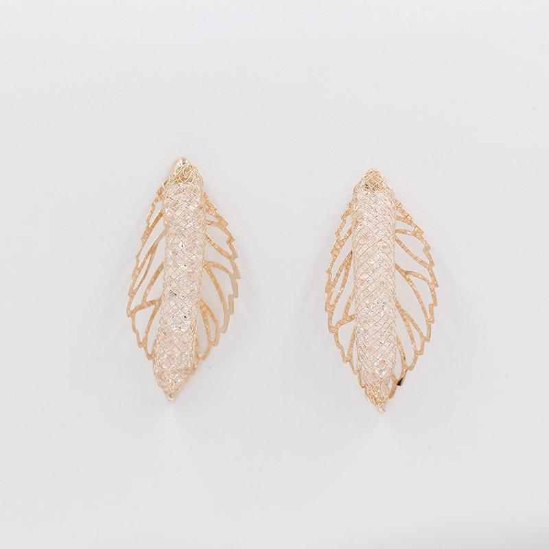 Zirkon Küpe doğrudan üretici tarafından satılan 585 altın kadın düğün parti gül bohem tarzı dangle avize