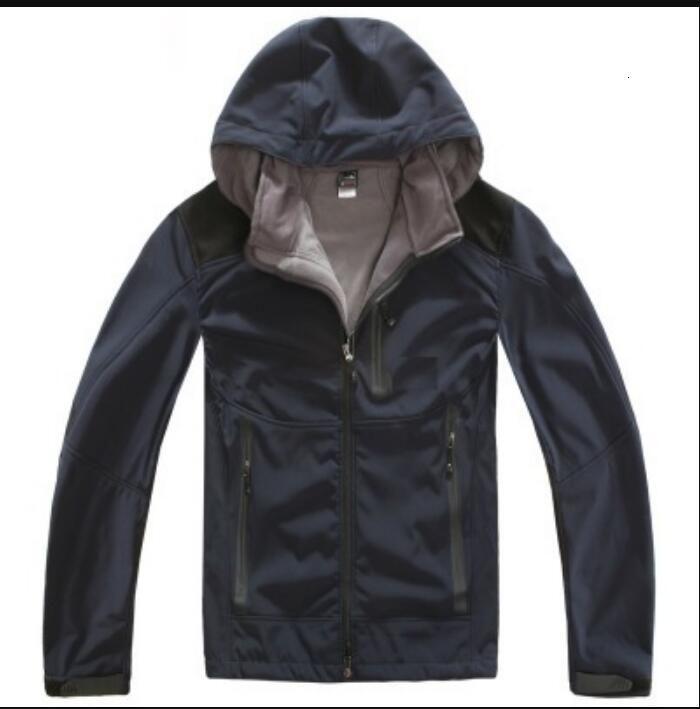 망 의류 재킷 플러스 사이즈 남성용 Softshell Fleece 후드 패션 캐주얼 방풍 스키 얼굴 따뜻한 코트 블랙 화이트