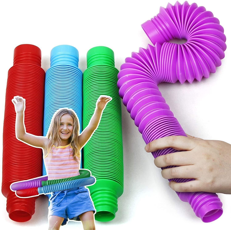 الولايات المتحدة الأسهم أزياء الضغط لعب أنابيب الحسية للأطفال التوحد الأطفال الكبار مجردة المخلص الاطفال لعبة أنابيب بسط