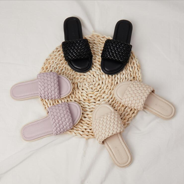 Slipper 2021 Kids Girls Knit Slides Summer Fashion Colores Sólidos Zapatos 25-35