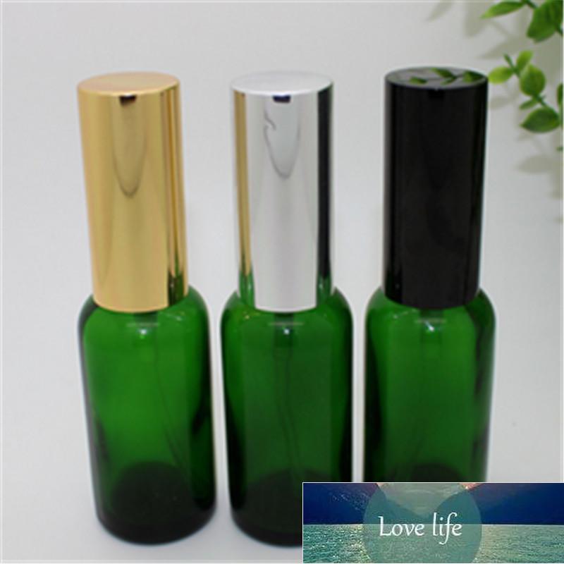 1 ADET 30 ml Temizle Yeşil Mavi Cam Uçucu Yağ Flakon Amber Sprey Boş Parfüme Taşınabilir Şişe Gümüş Altın Siyah
