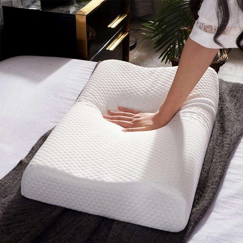 Tailândia natural da massagem do látex do látex para o travesseiro orgânico do favo de mel do cervical orgânico do Stress, 60x40cm 50x30cm 35x58cm