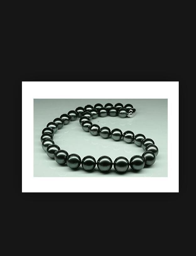 "Enorme 18 ""11-13mm Natural Tahitian Genuine Black Perfect Pearl Collana Belle perle gioielli"